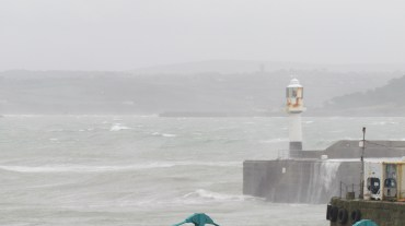 The intense winds off the bay of Penzance.