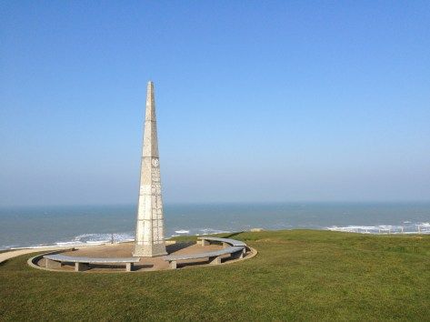 The 1st Division Infantry Memorial on the top of Omaha Beach.