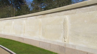 The wall of the missing with over 1,500 names.