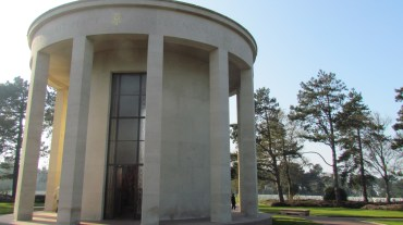 The dome chapel in the center of the cemetery.