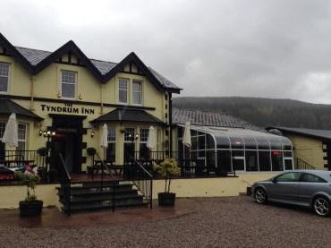 The Tyndrum Inn Restaurant next door to the Green Welly.