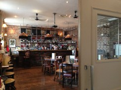 The newly refurbished downstairs with open seating and great food.