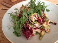 An amazingly light chicken and avocado salad.