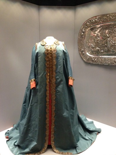 Catherine the Great's robe on display.