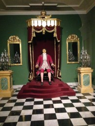 A wax figure of Peter the Great in his original Winter Palace.