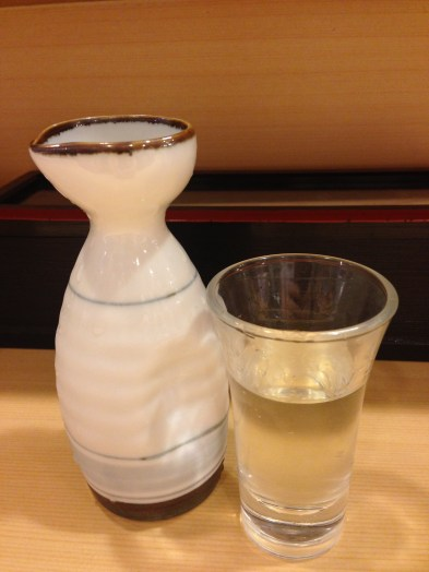 A lovely carafe of sake to enjoy with my meal.