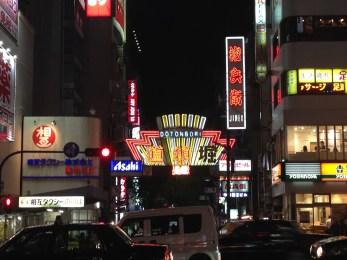 The lights of Dotonburi Street.