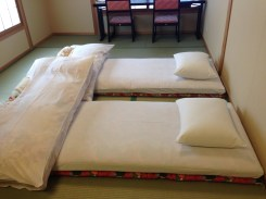 Our tatami mat beds.