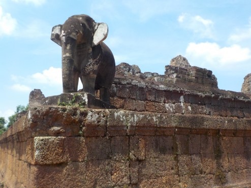 The elephant sculptures of the Temple of the Elephant.