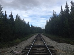 Crossing over the railroad.