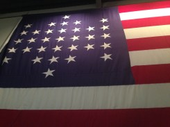 The American Flag as designed during the Civil War.