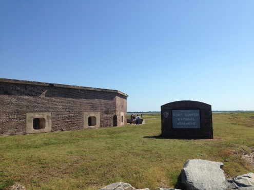 The entrance to the fort itself.