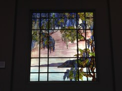 Tiffany Glass installations of an Oyster Bay.