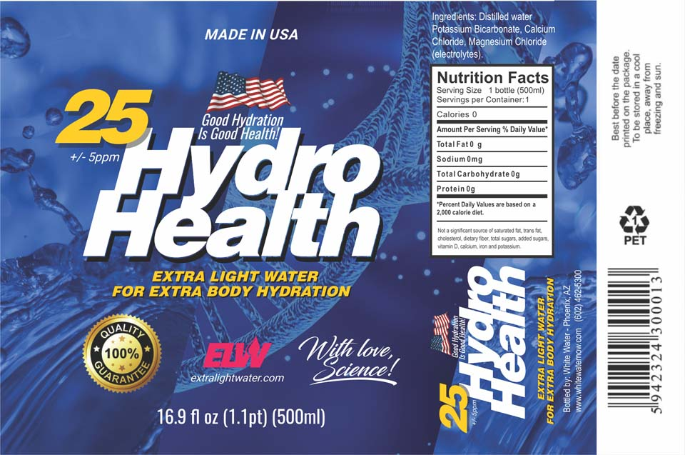 25 HydroHealth deuterium depleted water Label