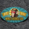 """BUSINESS CARDS LAMINATED-SILK OVAL Die-cut 2"""" x 3.5"""" 16pt coated paper"""