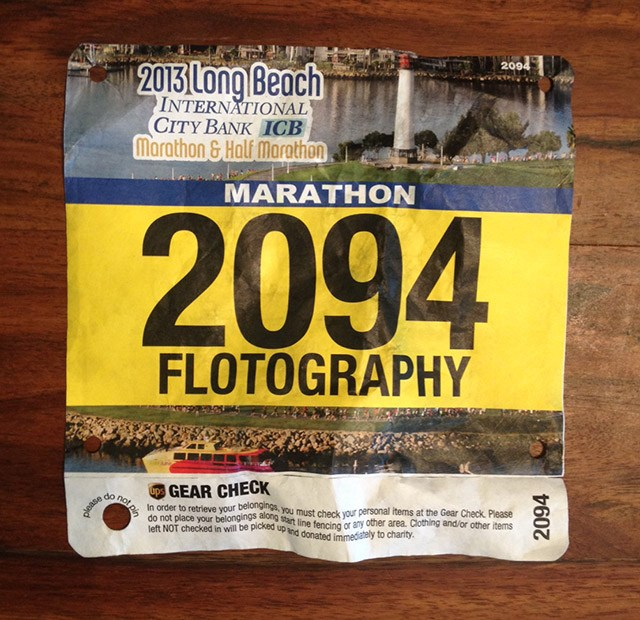 Marathon Bib Long Beach Marathon Floris Gierman - Flotography