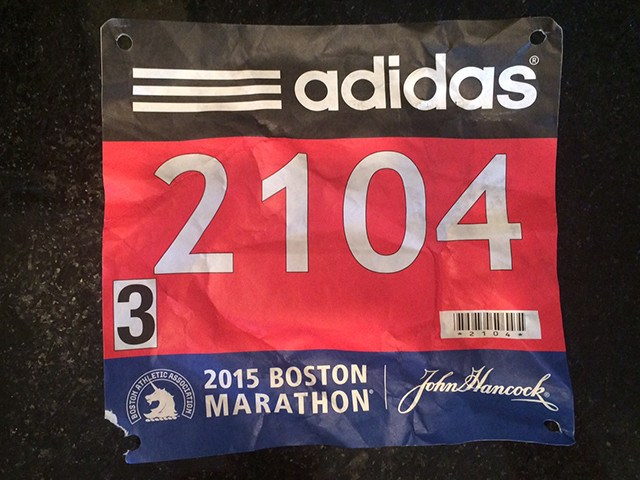 Race bib Boston Marathon