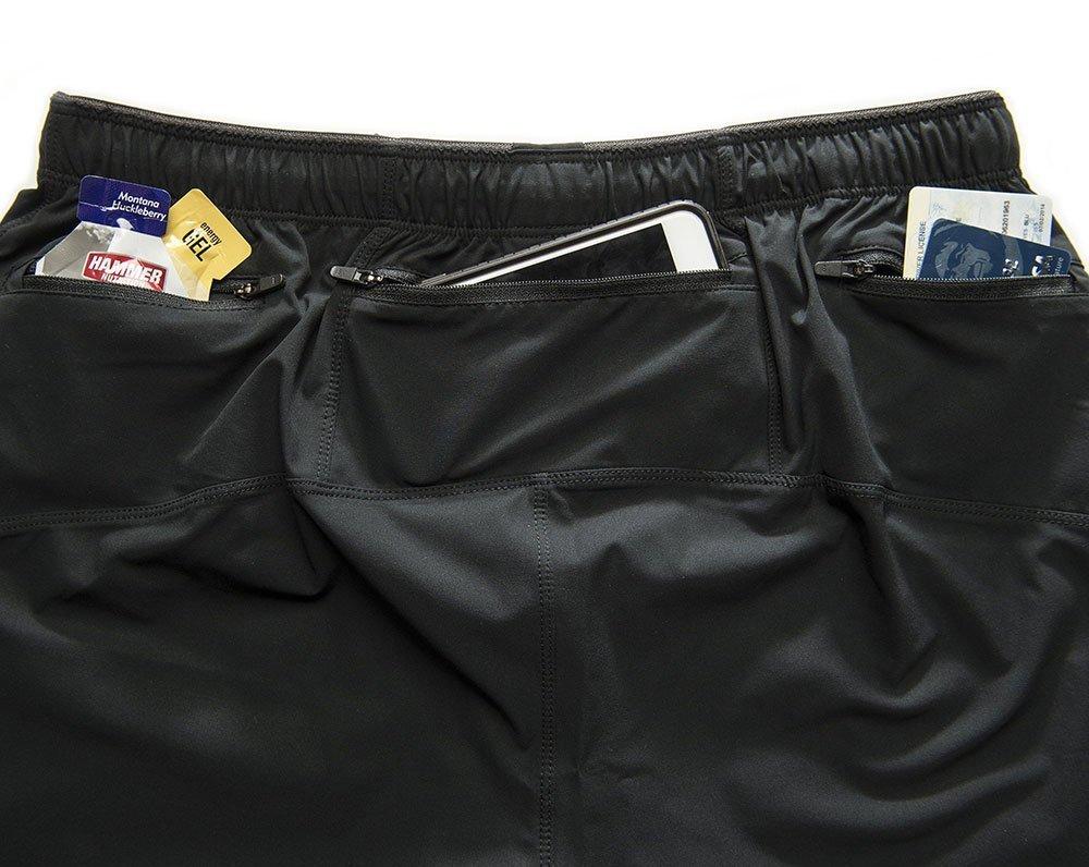 marathon shorts to fit phone, gels, id, keys