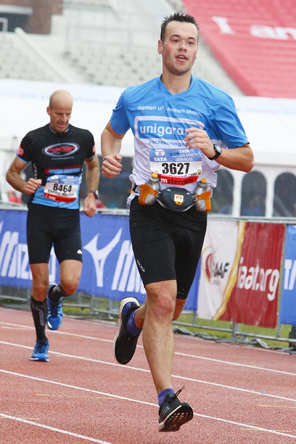 Jeroen running on track