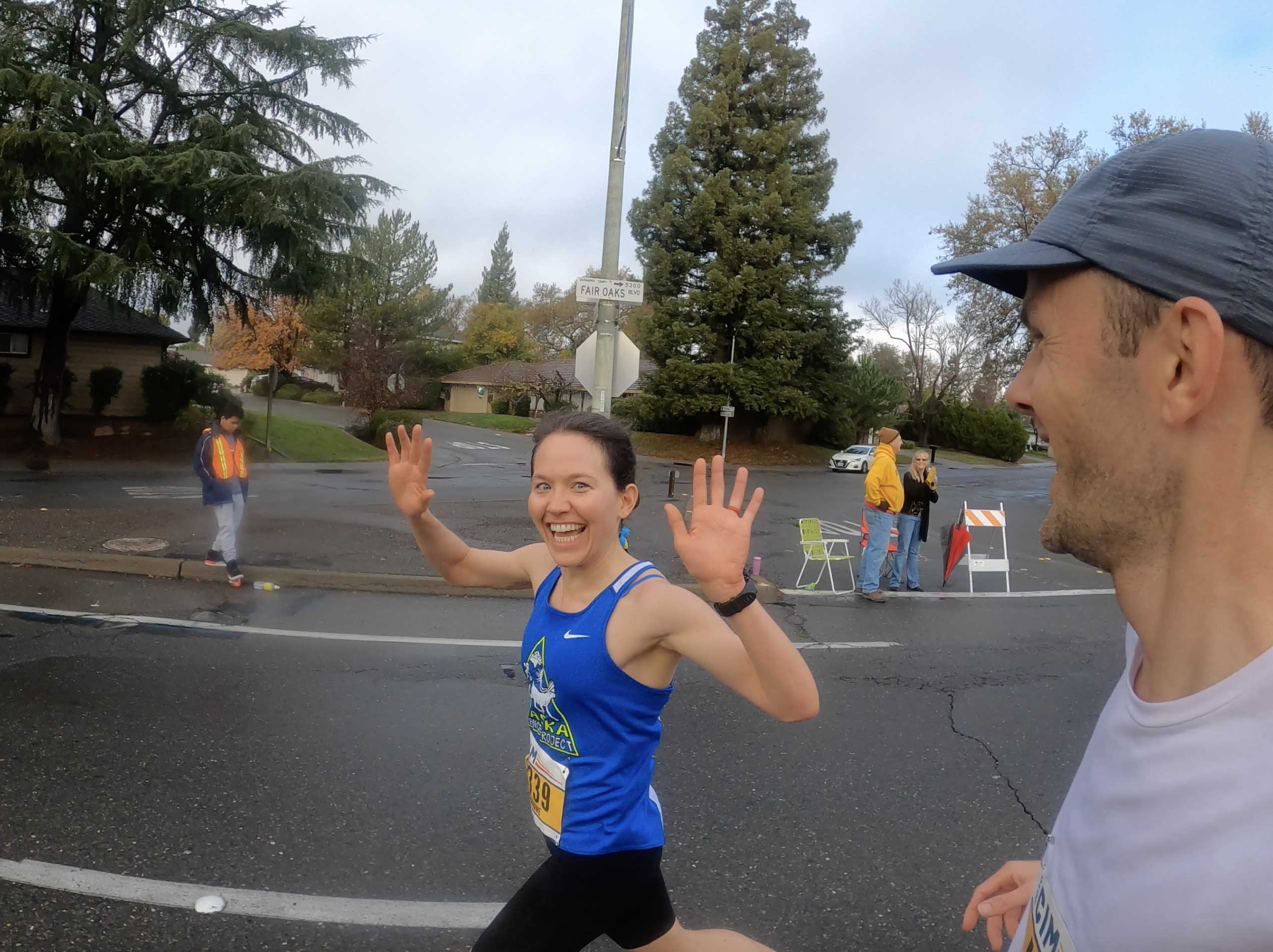 Julianne Dickerson running fast at CIM marathon