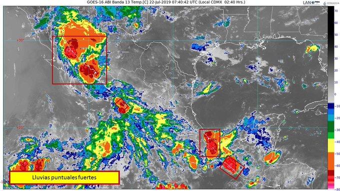 Para hoy pronostican lluvias locales fuertes y temperaturas de 40 a 45 grados, en Sinaloa