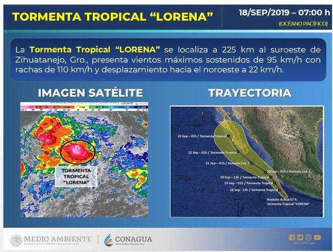 Autoridades en alerta en varios estados por el ciclón 'Lorena' en el Pacífico; ya preparan albergues