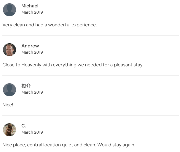 short term rental reviews