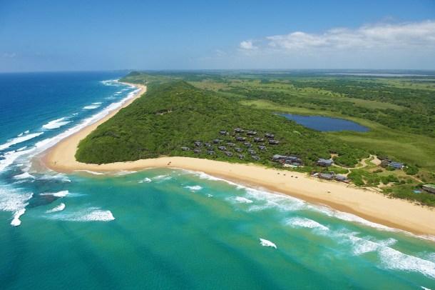 Beach hotel in Mozambique