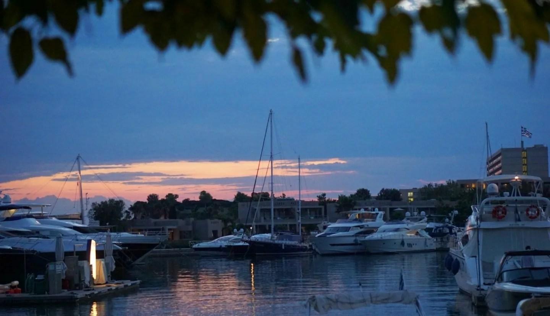 The Sun setting at Sani Harbour www.extraordinarychaos.com
