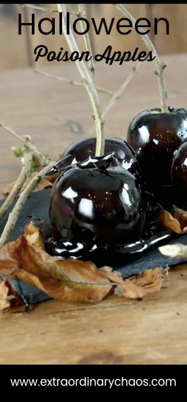 How to make candy poison apples for halloweens parties and trick or treating