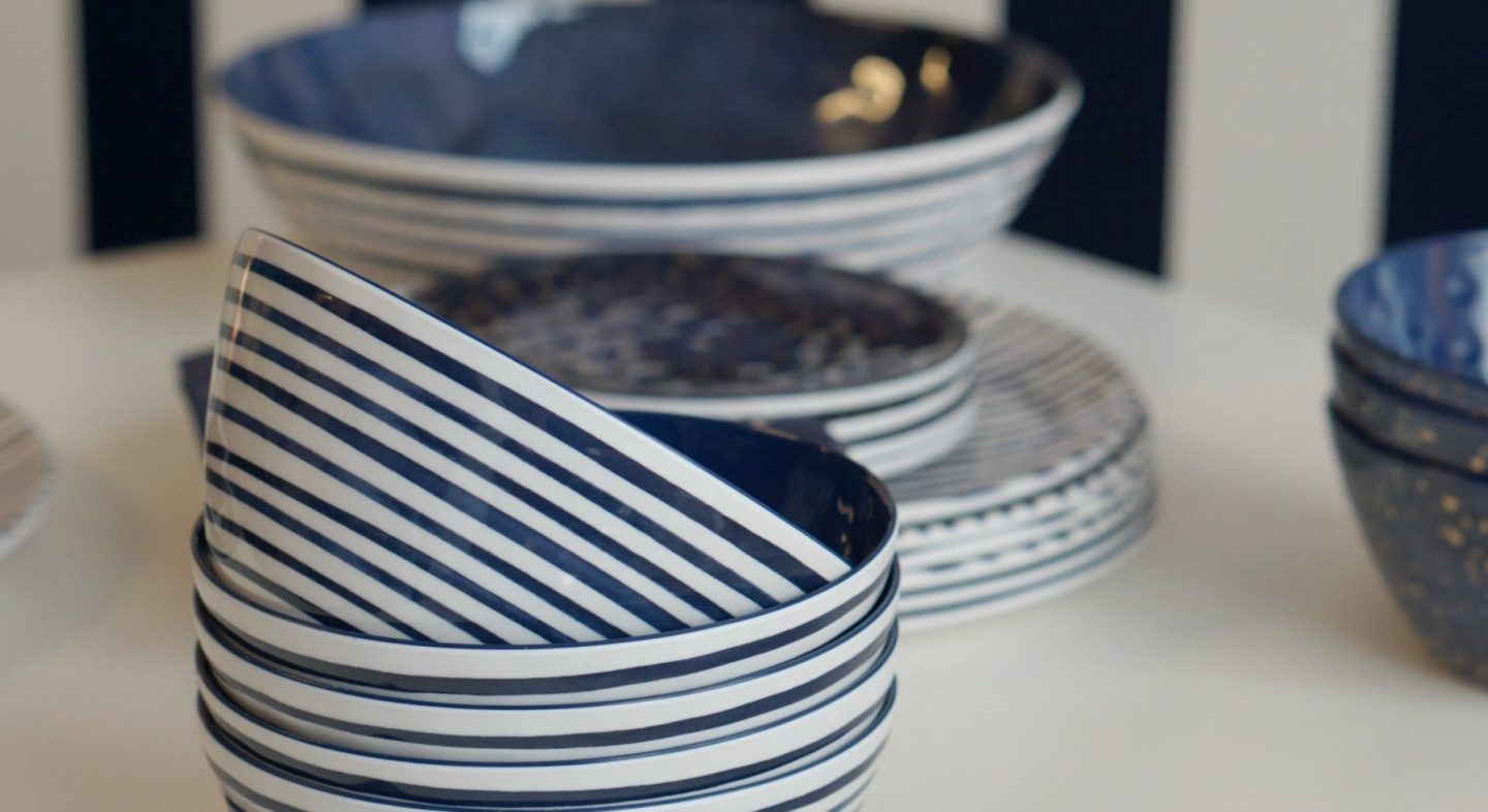 China Blue Kitchen Ware at the Spring Summer 18 Sainsburys Show www.extraordinarychaos.com