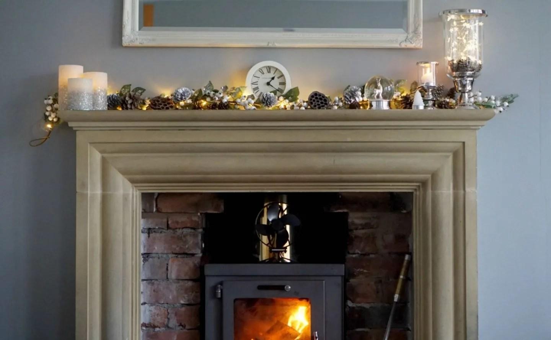 My Fireplace at Christmas www.extraordinarychaos.com