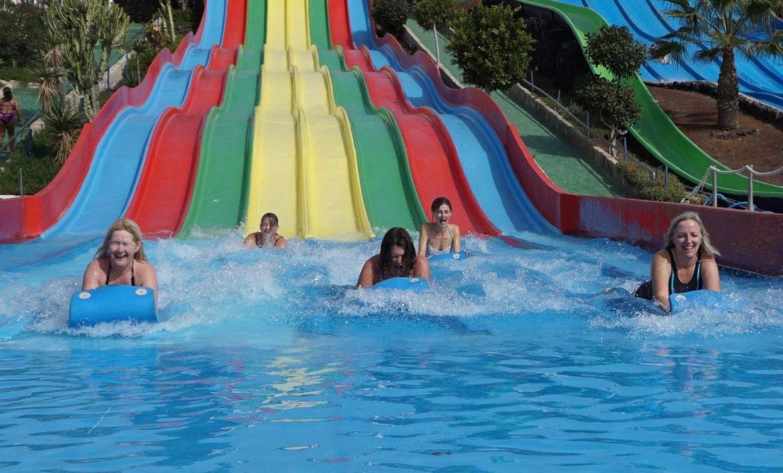 Slide at the Aqua Park in Lanzarote