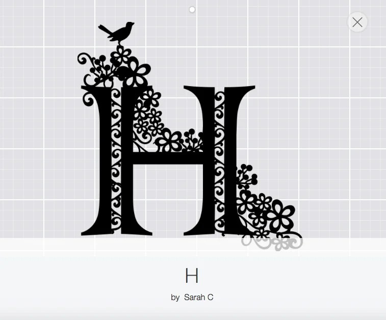 H Monogram Paper-Cut design space pattern, www.extraordinarychaos.com