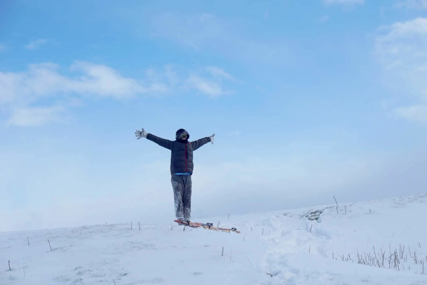 My Weekly Round up a snowing day at the foot of pendle hill