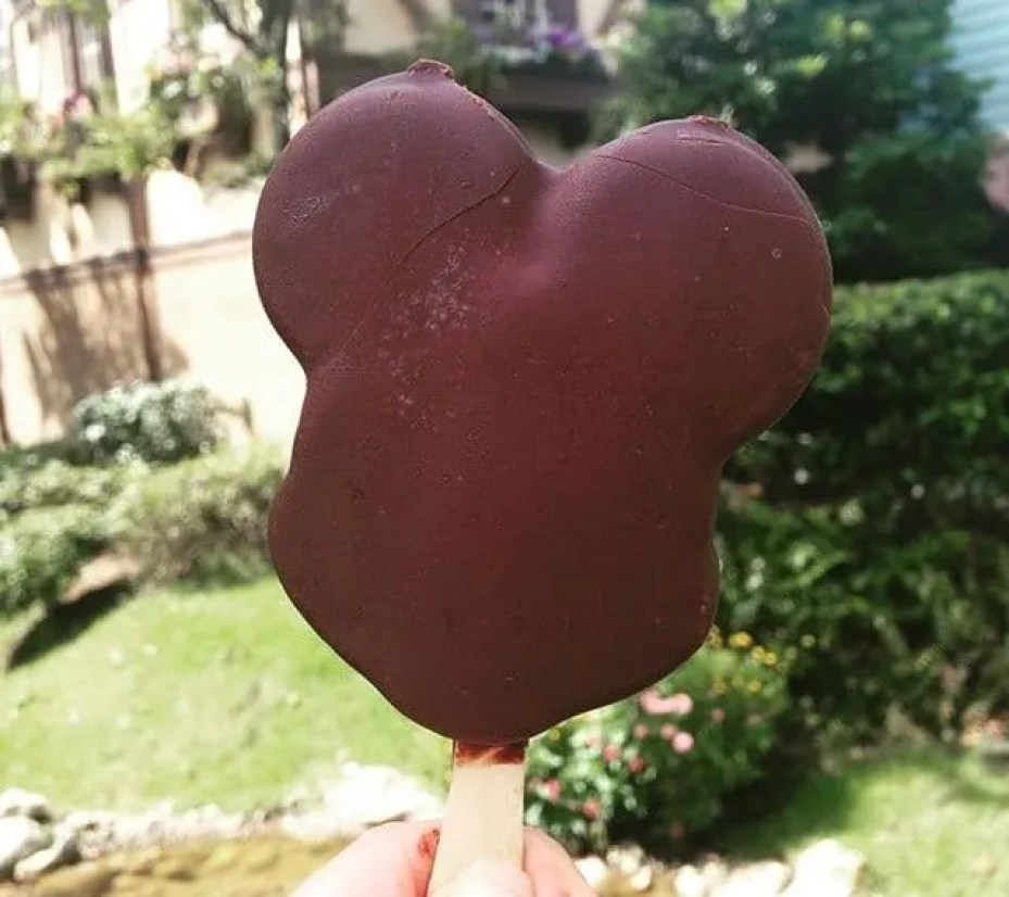 Mickey Ice Cream part of the Free Disney Dining Plan snack allowance