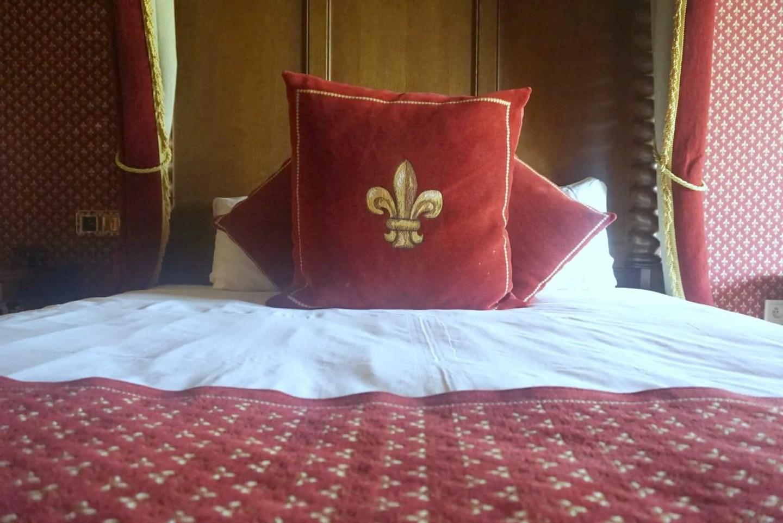 Four poster bed at Le Camp Du Drap D'Or at Puy Du Fou