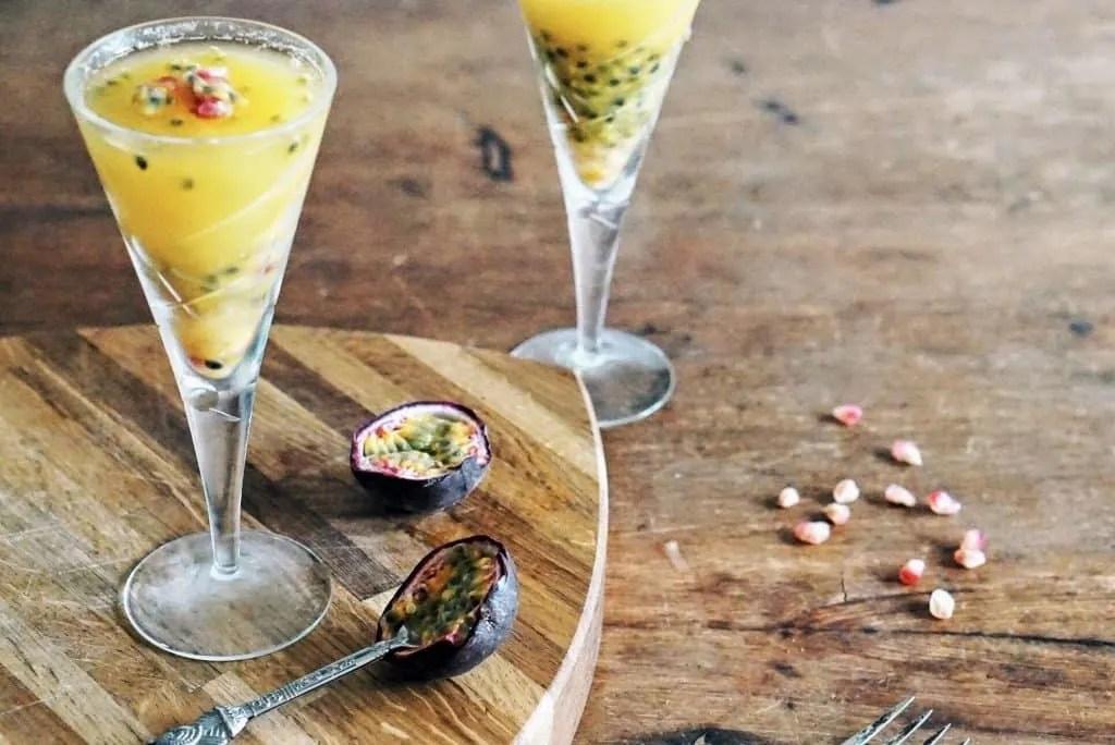Slimming World Passion Fruit Champagne Jelly Dessert