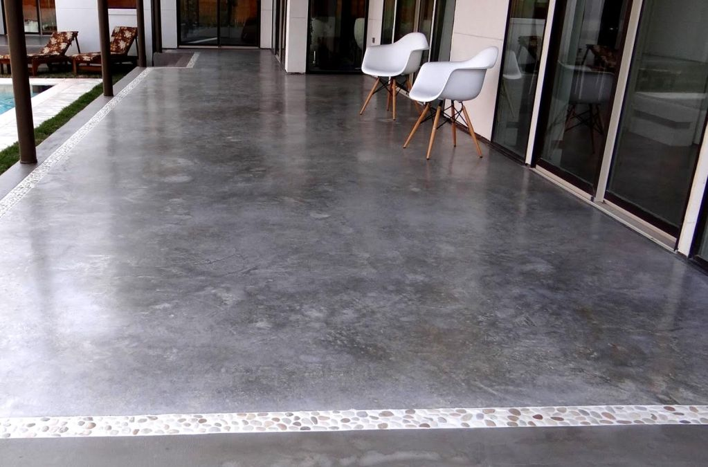 Polished Concrete Patio New Orleans LA