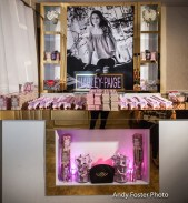 Check out this gorgeous custom makeup give away counter we created for Harley!