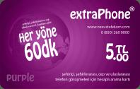 Her Yöne 60 Dakika Telefon Kartı