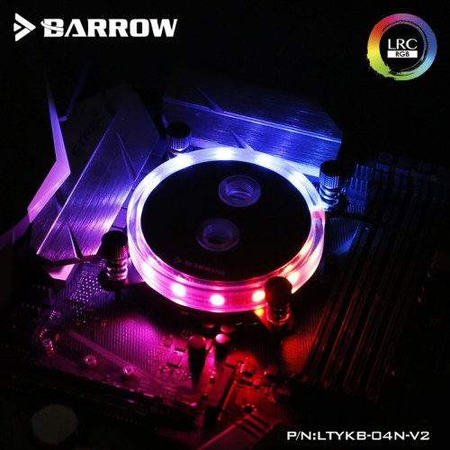 INTEL CPU Water Block Rays Edition Aurora Black