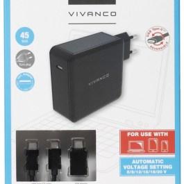 Vivanco USB-C laadija + kaabel 45W (34312)