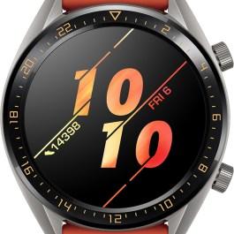 Huawei Watch GT, titanium grey/oranž