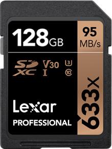 Lexar mälukaart SDXC 128GB Pro 633x U3 V30 95MB/s