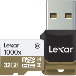 Lexar mälukaart microSDHC 32GB Pro 1000x V60 + mälukaardilugeja