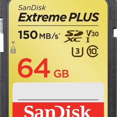 SanDisk mälukaart SDXC 64GB Extreme Plus V30 U3