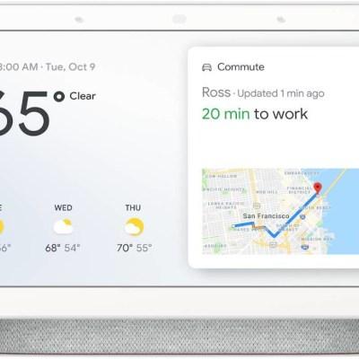Google Nest Home Hub Assistant, valge