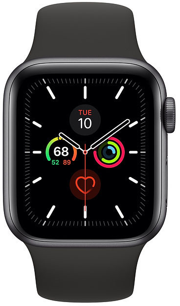 Apple Watch 5 GPS 40mm Sport Band, space grey/black