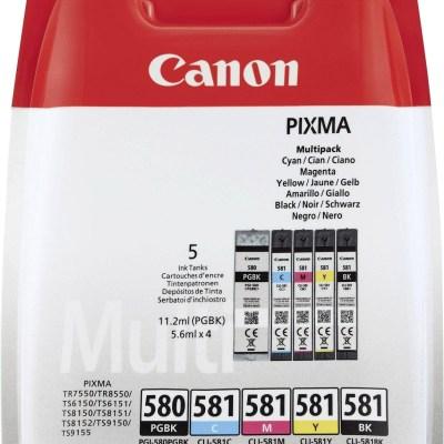 Canon tint PGI-580/CLI-581 Multipack, must/värviline